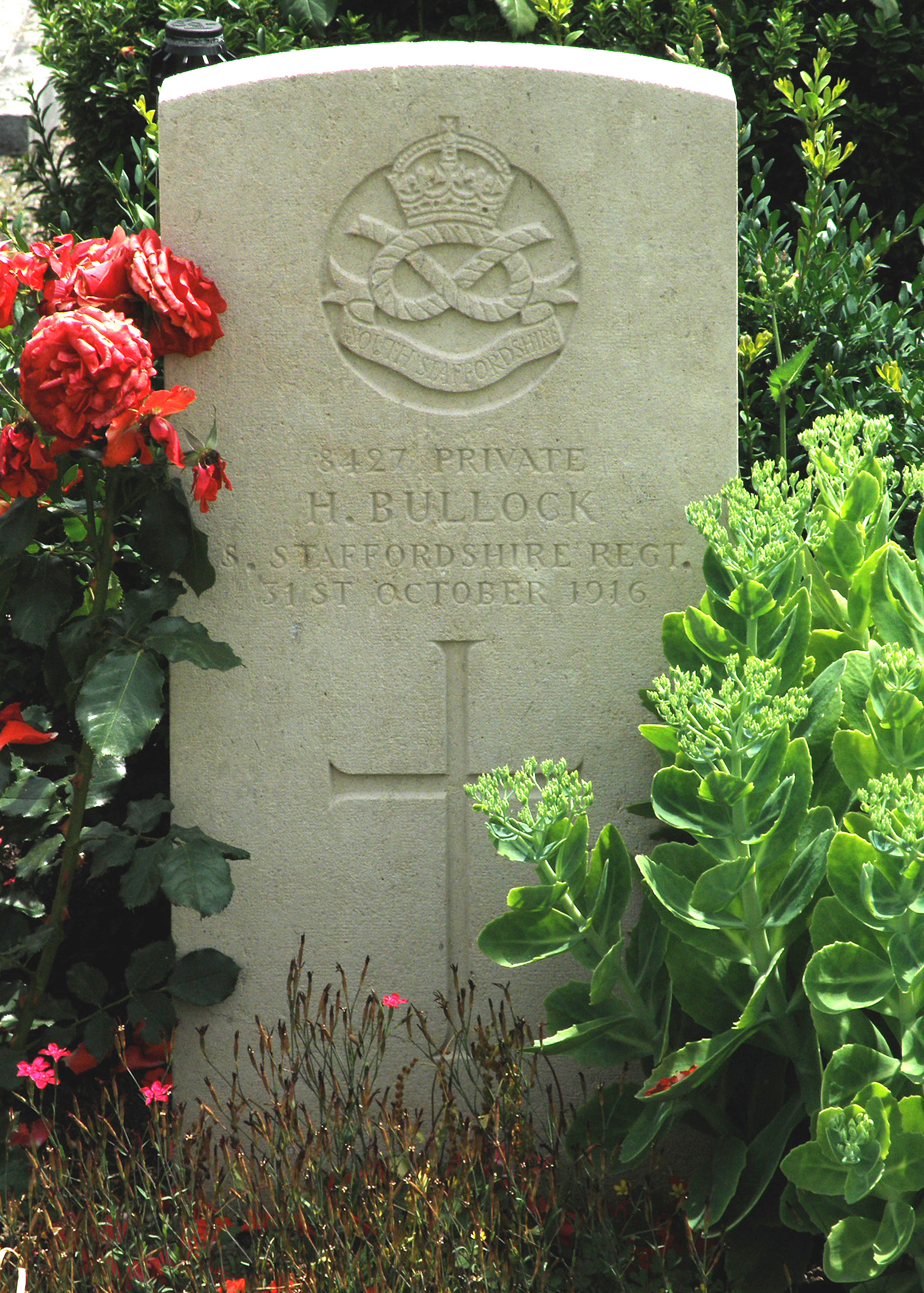 Photo of Harry Bullock's Headstone
