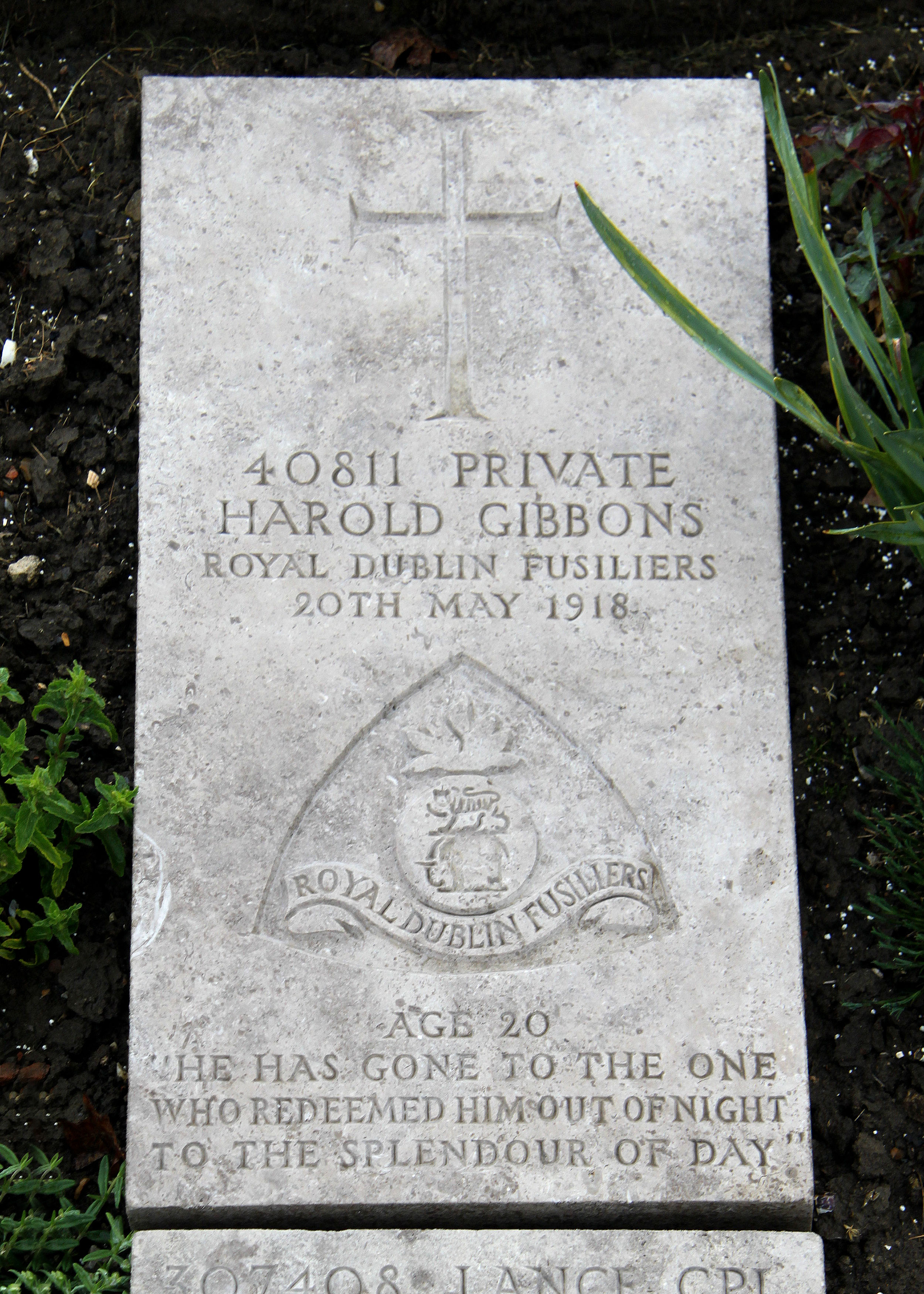 Photo of Harold Gibbons' Headstone