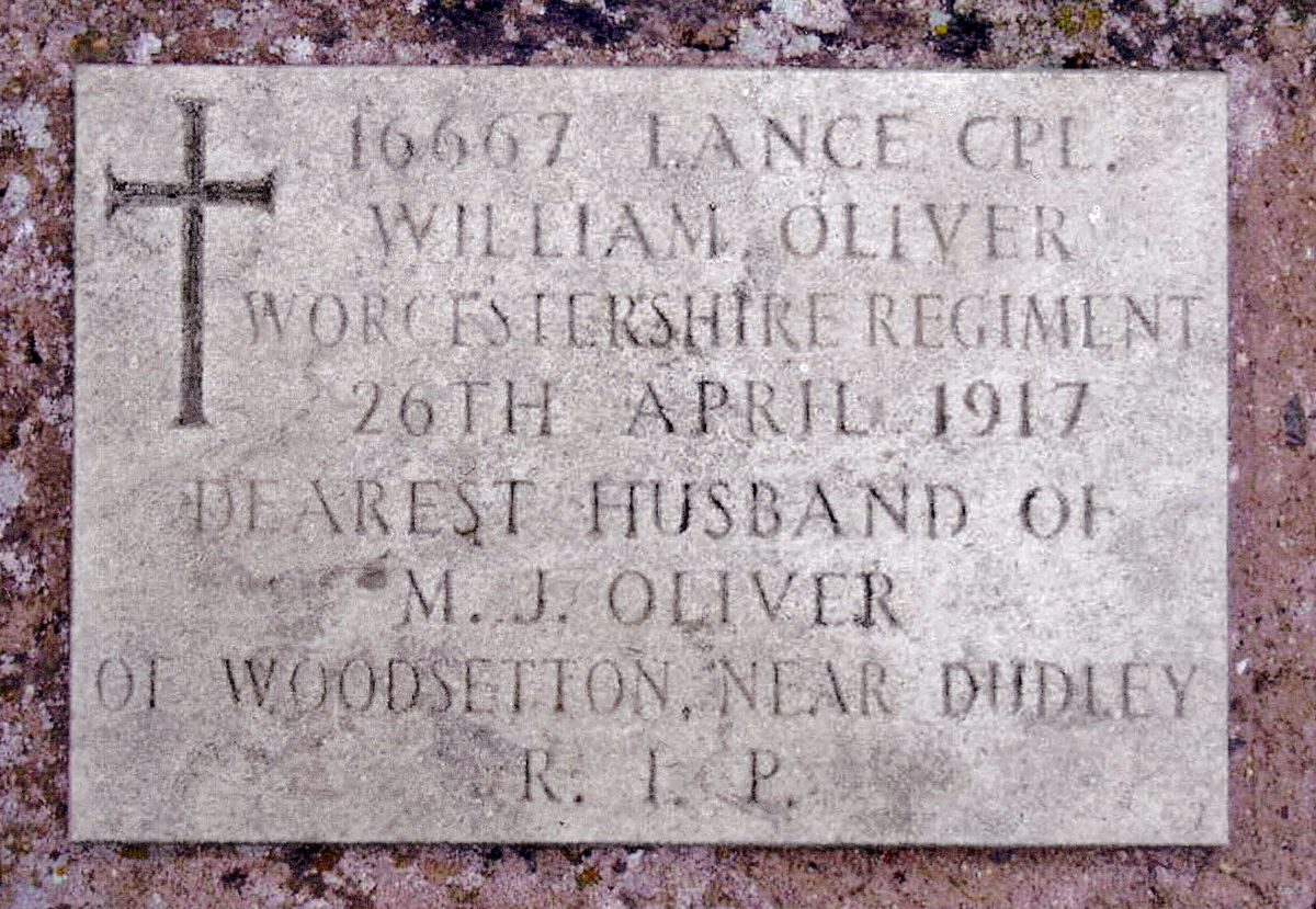 Photo of William Oliver's Headstone