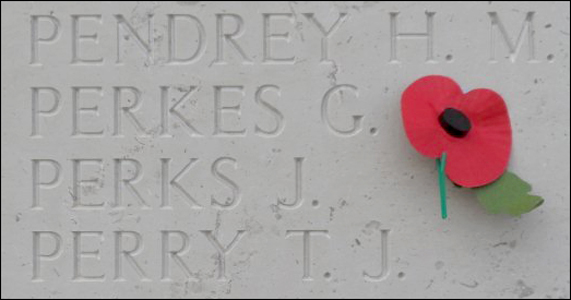 Photo of the Perks Brothers' Headstone