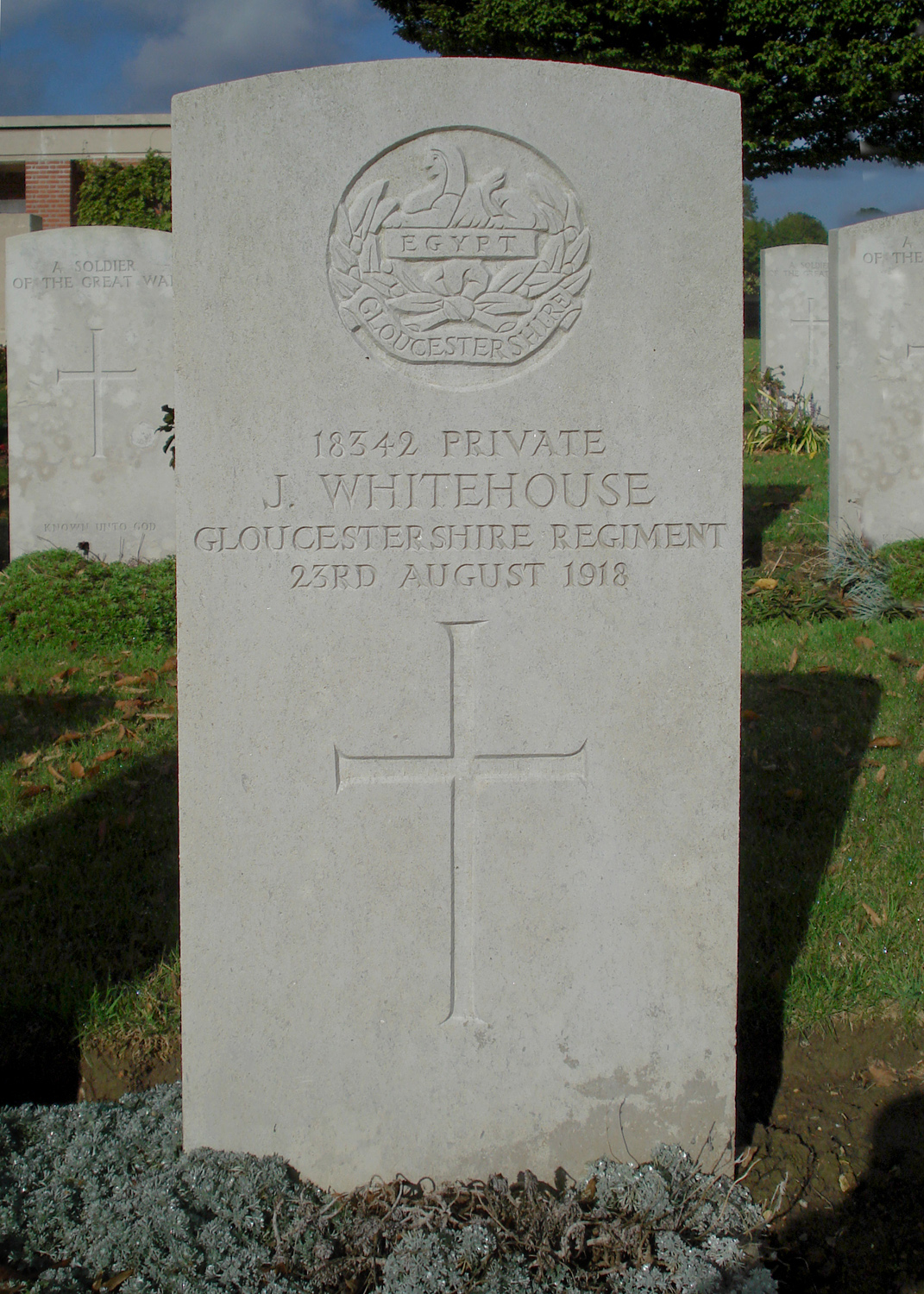 Photo of John Whitehouse's Headstone