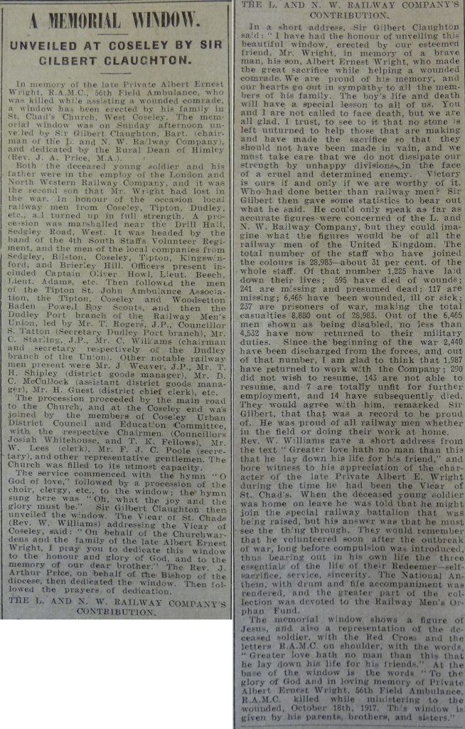 Wright-AE Dudley Herald 02 Feb 1918